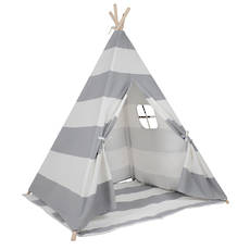Grey & White Stripe Teepee