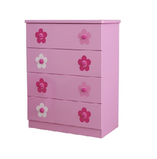 Flower 4 Drawer Chest