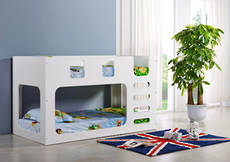 Saturn Single Bunk Bed White