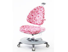 BABO SWIVEL CHAIR PINK WITH FOOTREST