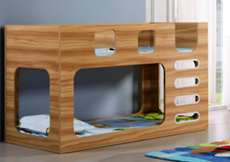 Saturn King Single Bunk Bed Oak