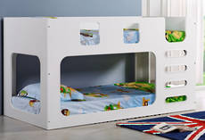 Saturn King Single Bunk Bed White