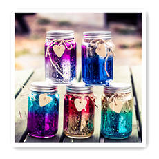 Ombre Sparkle Jar