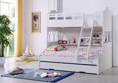 Snow Bunk Bed with Single Trundle