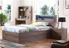 Delta King Single Bed Mocha Oak