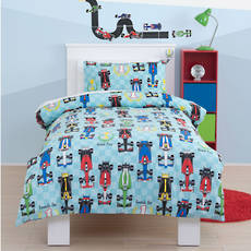 F1 Cars King Single Duvet Cover Set