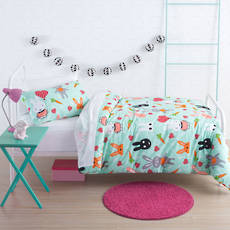 Hip Bunnies Single Duvet Cover Set