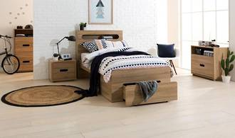 Kendall King Single Bed With End Drawer