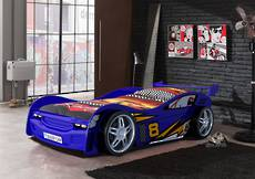 Blue Night Racer Car Bed
