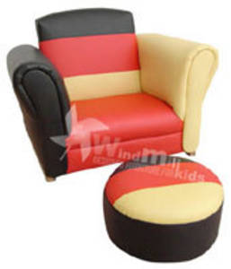 Multi-colour Stripe Rocking chair with footstool