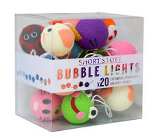 Cotton Ball String Lights Animal Faces