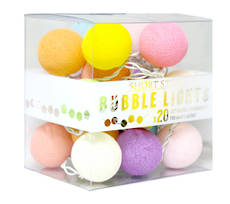 Cotton Ball String Lights Multi Colour